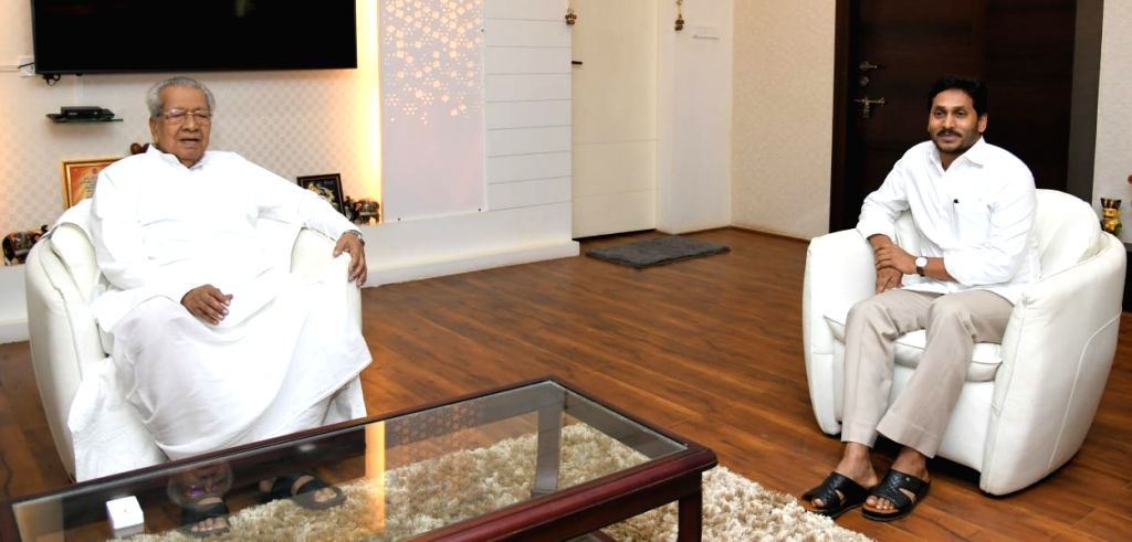 Andhra Pradesh Chief Minister YS Jagan Mohan Reddy calls on Governor Biswabhusan Harichandan at Raj Bhavan on the sixth day of the nationwide lockdown imposed to contain the spread of ... - Jagan Mohan Reddy