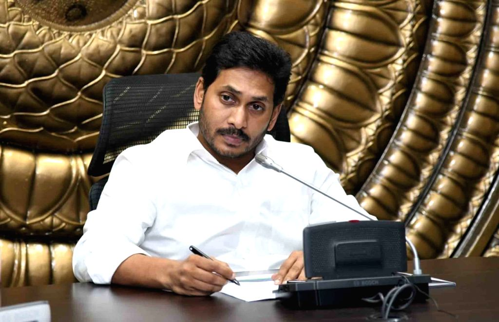 Andhra Pradesh Chief Minister YS Jagan Mohan Reddy chairs a meeting to review actions taken for the prevention of COVID-19 on Day 7 of the the 21-day nationwide lockdown imposed to ... - Jagan Mohan Reddy
