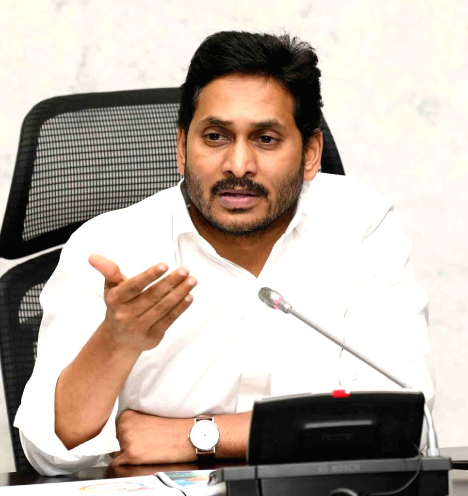 Andhra Pradesh Chief Minister YS Jagan Mohan Reddy presides over a review meeting on Agriculture, in Amaravati on Oct 28, 2020. - Jagan Mohan Reddy