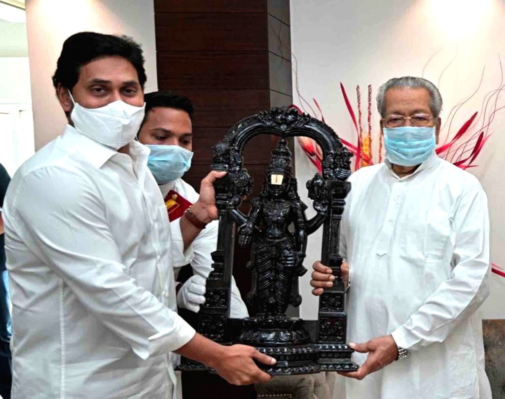 Andhra Pradesh Chief Minister YS Jagan Mohan Reddy called on Governor Biswabhusan Harichandan and extended Diwali greetings on the eve of the festival, at Raj Bhavan in Vijayawada on Nov ... - Jagan Mohan Reddy