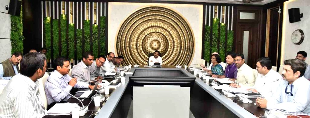 Andhra Pradesh Chief Minister YS Jagan Mohan Reddy chairs a Cabinet meeting in Amaravathi, on Jan 24, 2020. - Jagan Mohan Reddy