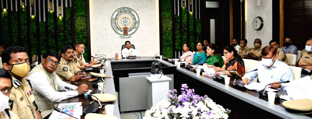 Andhra Pradesh CM YS Jagan Mohan Reddy reviews law and order, talks tough on drugs, crimes against women. - Jagan Mohan Reddy