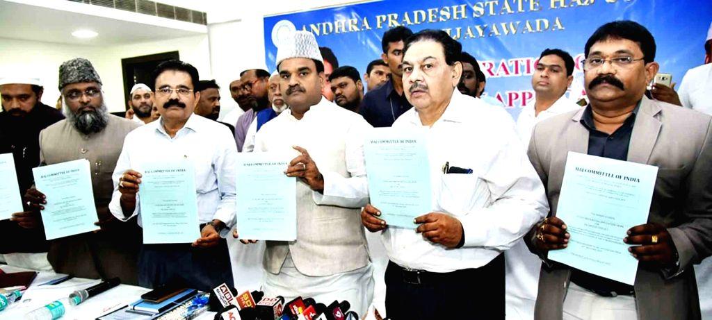 Andhra Pradesh Deputy Chief Minister Amzath Basha Shaik Bepari at the inauguration of 'Online Haj Application', in Hyderabad on Oct 10, 2019. - Amzath Basha Shaik Bepari