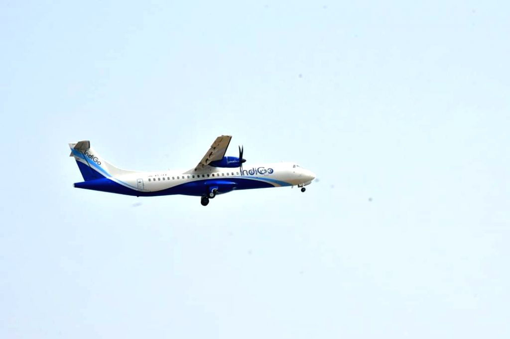 Andhra Pradesh: First flight lands with passengers at Orvakal airport in Kurnool on Monday 29th March, 2021.