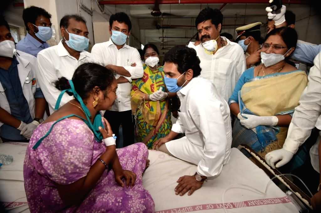 Andhra Pradesh Gas Tragedy. (Photo: Venkatram Narendra Puppala IANS)