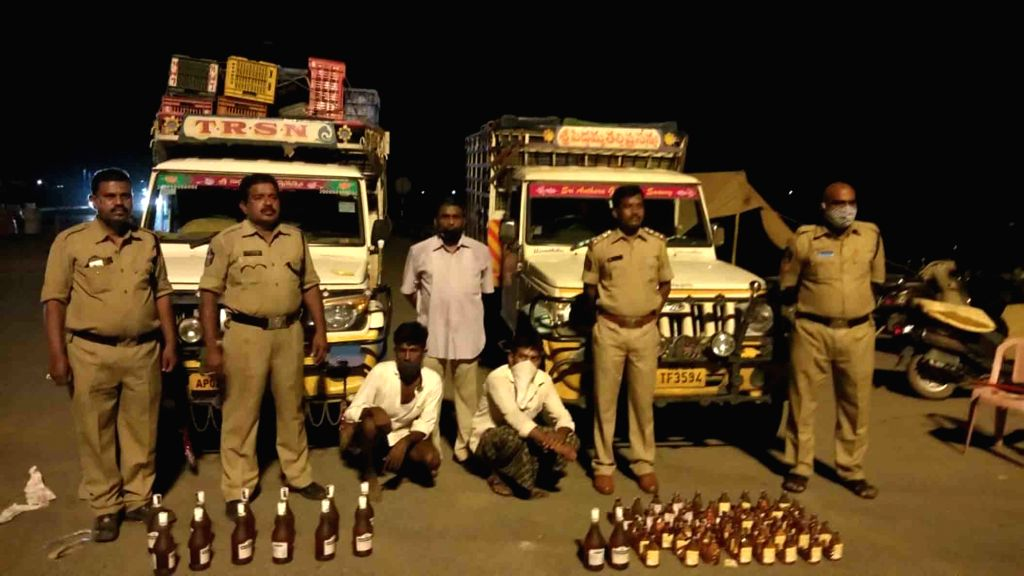 Andhra Pradesh Special Enforcement Bureau Additional SP Gautami Sally  SP, Fakeerappa Kaginelli IPS during raids being carried out in Kurnool district in coordination with SEB team, police ...
