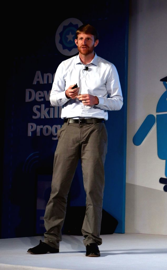Android Vice president Brian Rakowski and others at the launch of Android Skilling Program in India in New Delhi, on July 11, 2016.