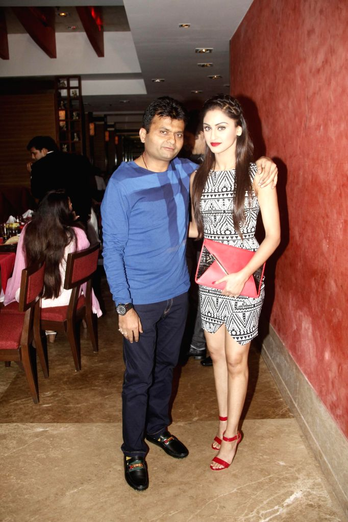 Aneel Murarka with Krystal Dsouza during the hosted a party by Aneel Murarka in Mumbai, on Sept. 5, 2014.