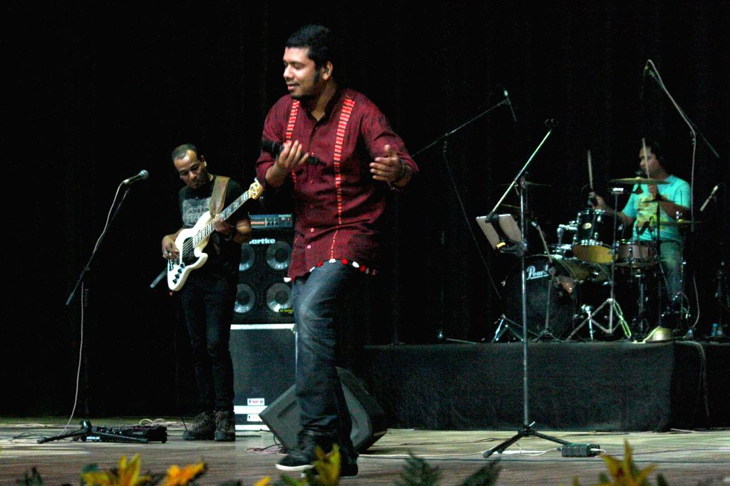 Angaraag Mahanta, popularly known as Papon and his band `The East India Company` perform at the inauguration of `Fragrances from the North East` - three-day long North East Film Festival organised by