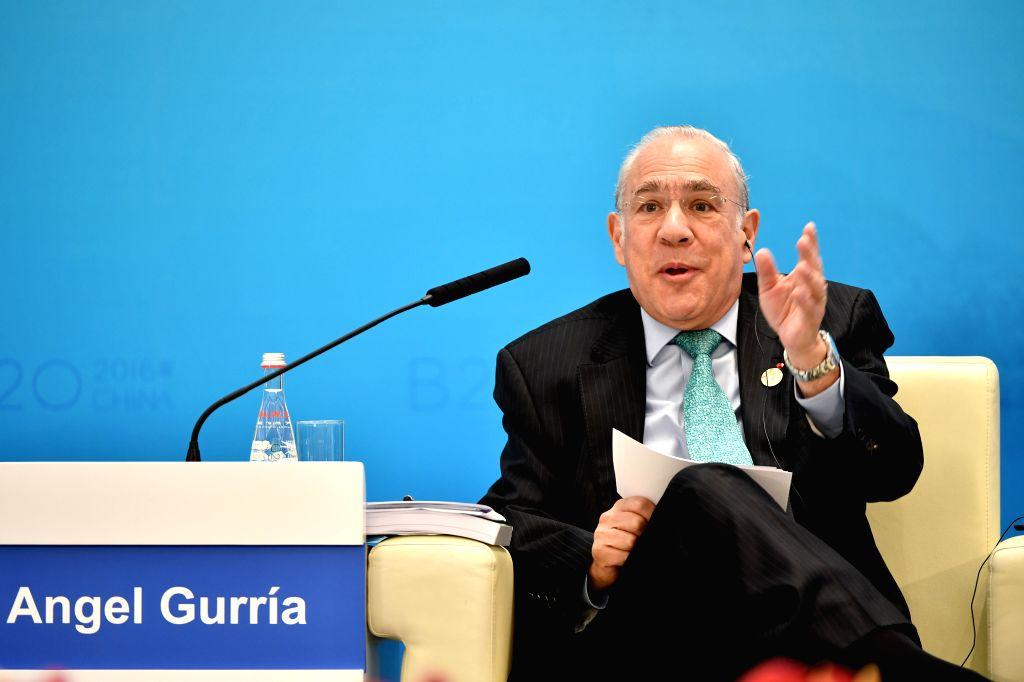 Angel Gurria.  (Xinhua/Li Xin/IANS)  (zkr)
