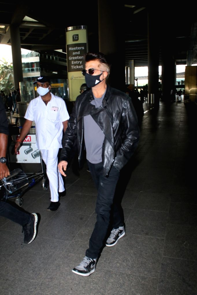 Anil Kapoor spotted at airport departure on Monday 22nd February 2021. - Kapoor