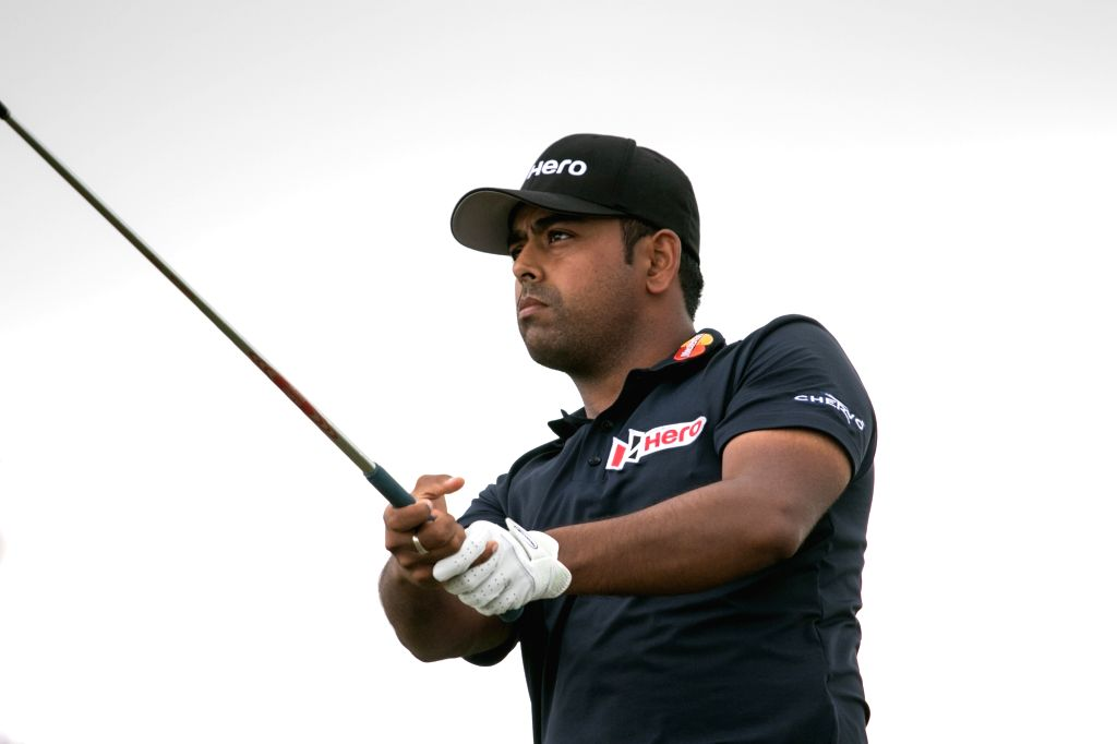 Anirban Lahiri on day two of the 2015 Hero World Challenge in Albany, Bahamas.