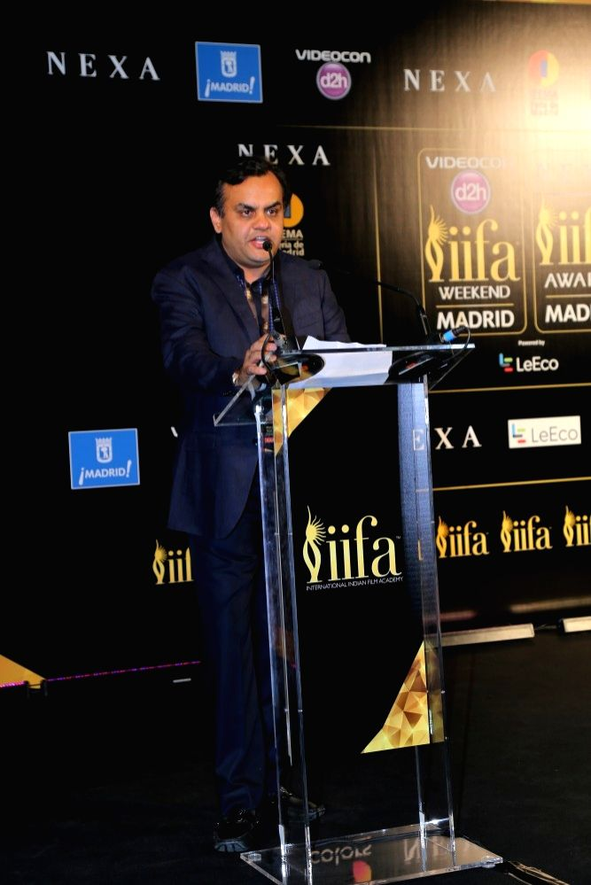Aniruddh Dhoot, Videocon d2h during the IIFA 2016 opening press conference in Madrid on June 23, 2016.