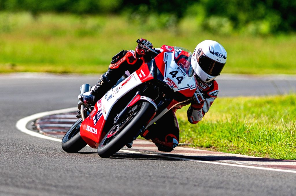 Anish Shetty maintains his dominance in the PS201-300cc category. - Anish Shetty