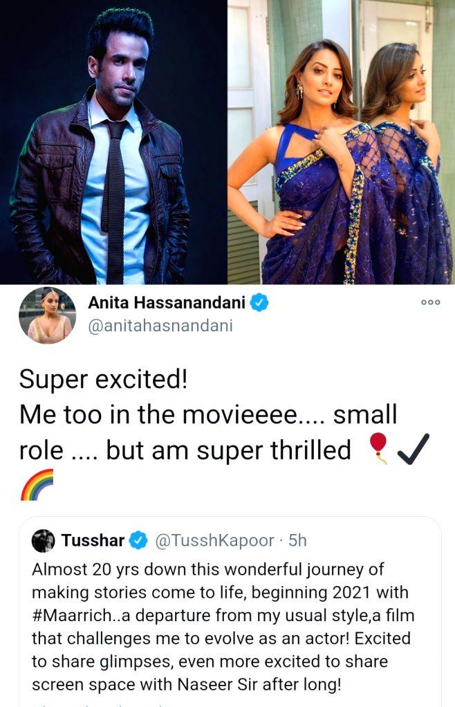 Anita Hassanandani, Tusshar Kapoor reunite in 'Maarrich'. - Tusshar Kapoor