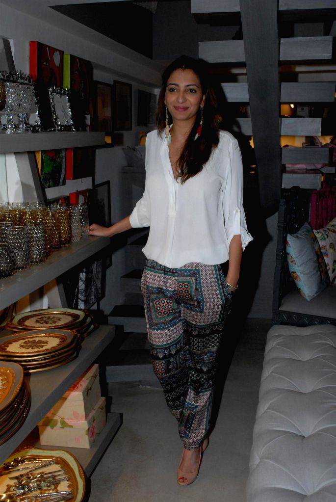 Anjori Alagh during the preview of the latest Flower Power Collection at The White Window store in Mumbai, on July 31, 2014.