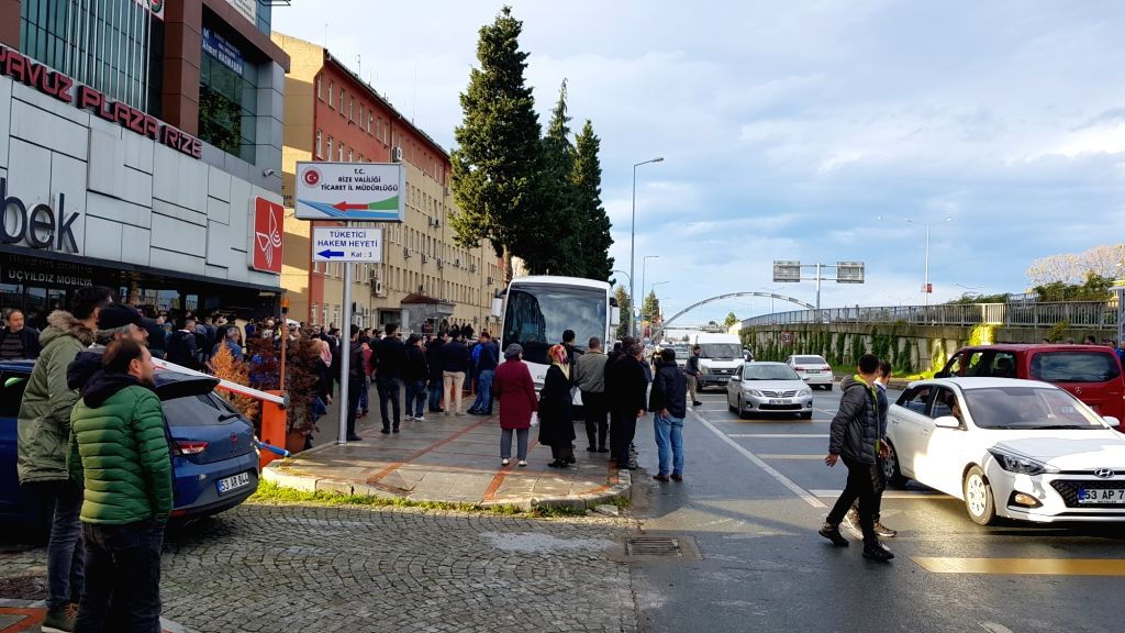 ANKARA, Dec. 11, 2018 - Photo taken on Dec. 11, 2018 shows the site of a shooting at provincial police department in Rize, northeastern Turkey. A provincial police chief was shot dead and three ...