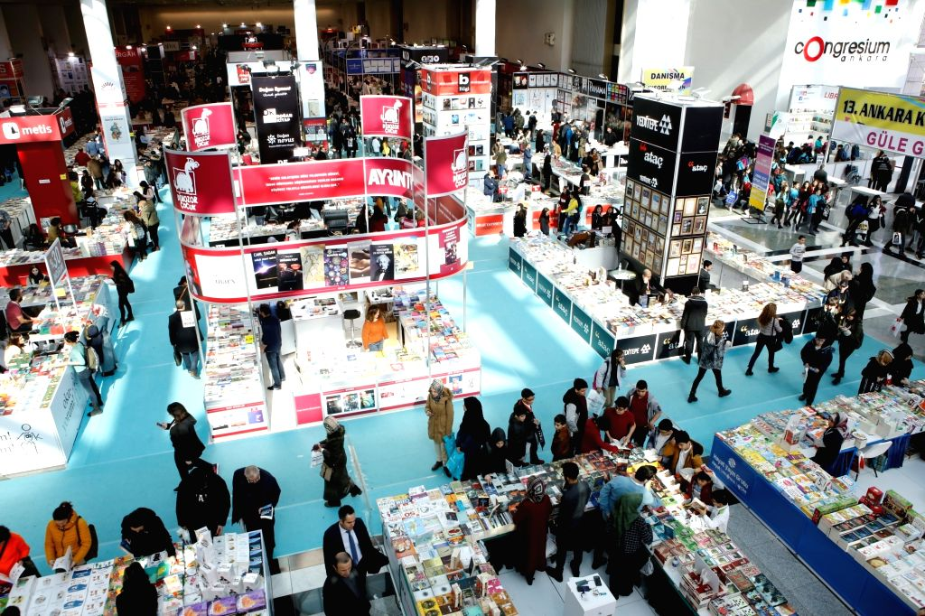 ANKARA, Feb. 20, 2019 - Photo taken on Feb. 18, 2019 shows the 13th Ankara book fair in Ankara, Turkey. The 13th Ankara book fair has attracted tens of thousands of book lovers since it opened last ...