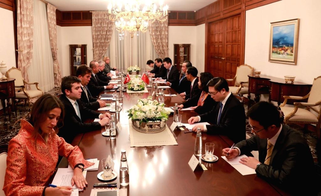 ANKARA, Nov. 13, 2016 - Chinese Foreign Minister Wang Yi and his Turkish counterpart Mevlut Cavusoglu attend the first meeting of the foreign ministers' consultation mechanism between China and ... - Wang Y
