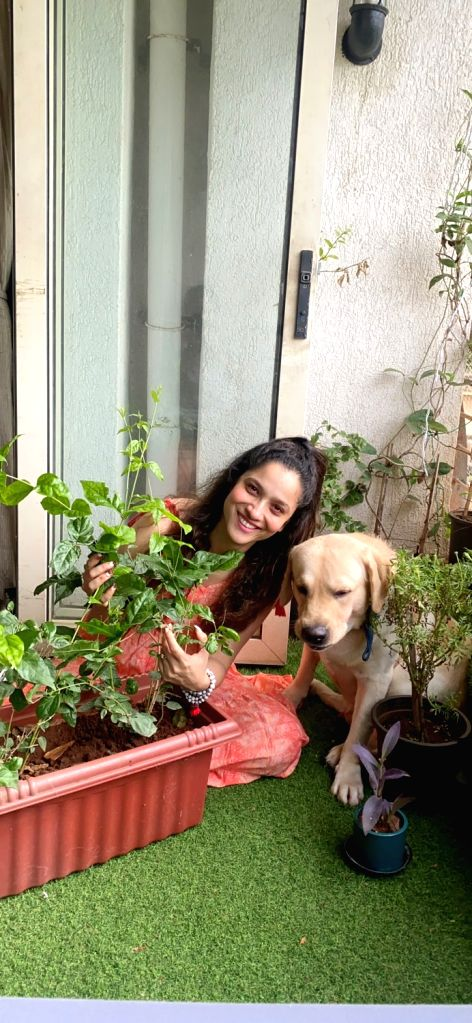 Ankita Lokhande fulfils Sushant's dream by planting saplings