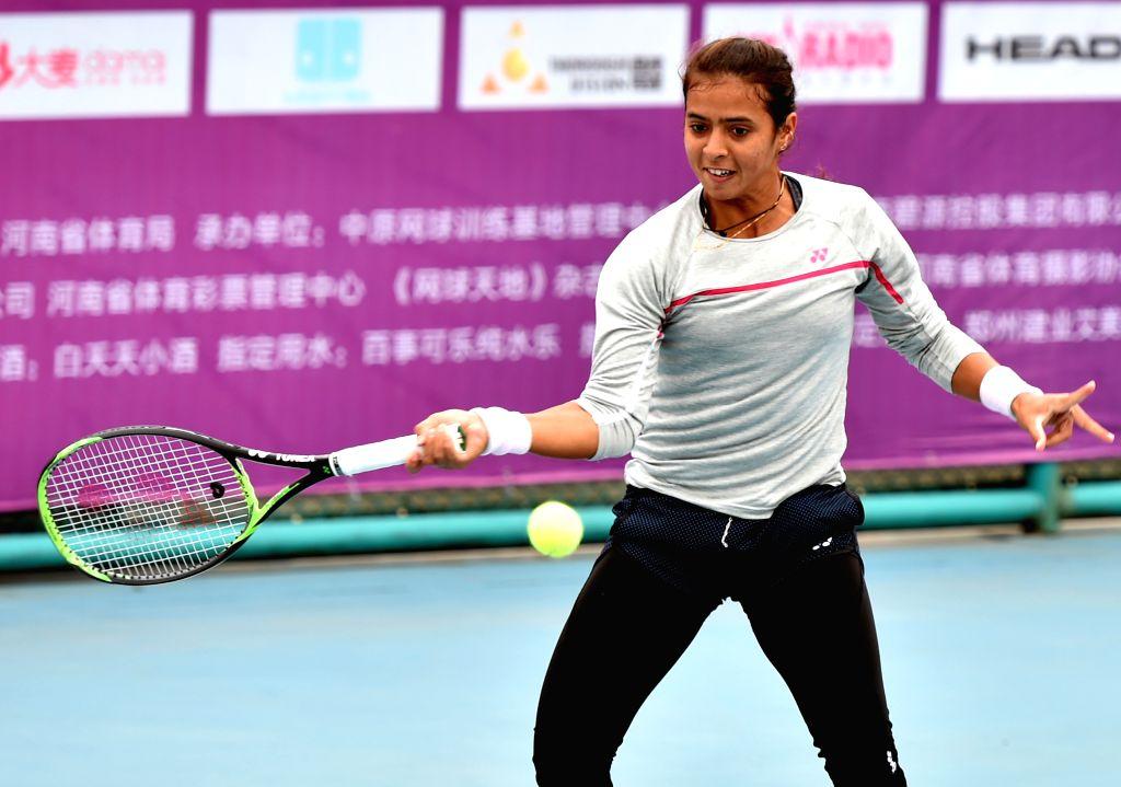 Ankita Raina. (Xinhua/Li Jianan/IANS)