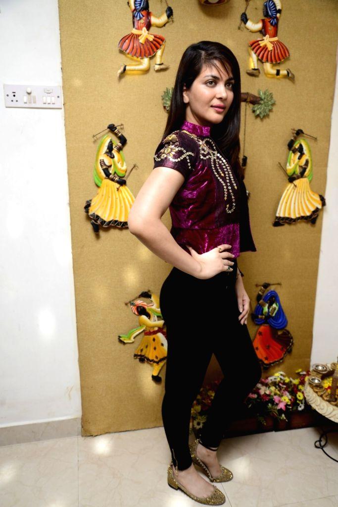 Ankita Shorey, Femina Miss India International 2011 and model celebrates Diwali, The Hindu festival of lights in Mumbai on Oct. 29, 2016.