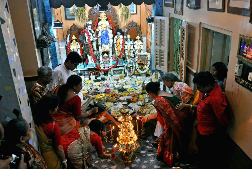 Annakut festival underway in Kolkata on Oct 28, 2019.