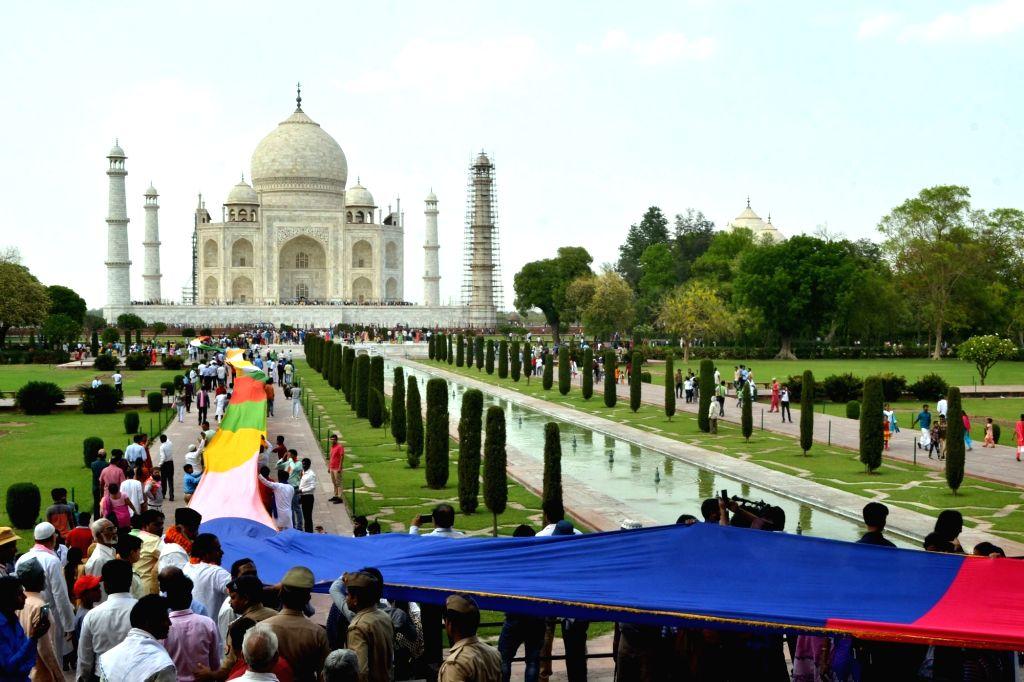 Annual Urs of Mughal emperor Shah Jahan underway at Taj Mahal in Agra on April 25, 2017.