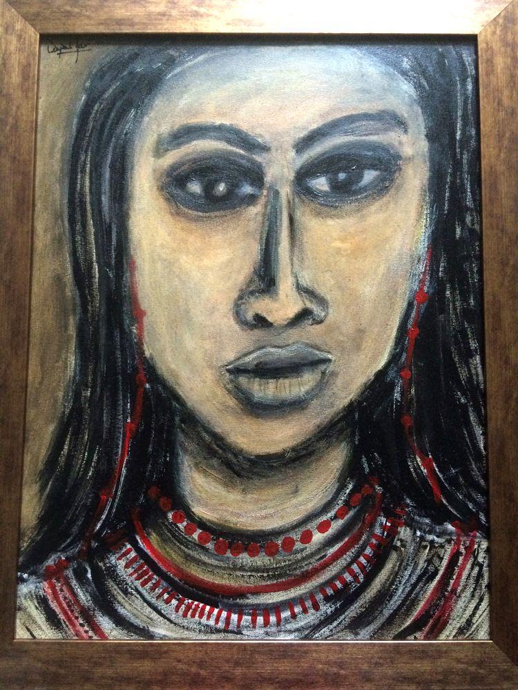 Another painting from Deepali Jain\'s series of - Introspection - Deepali Jain