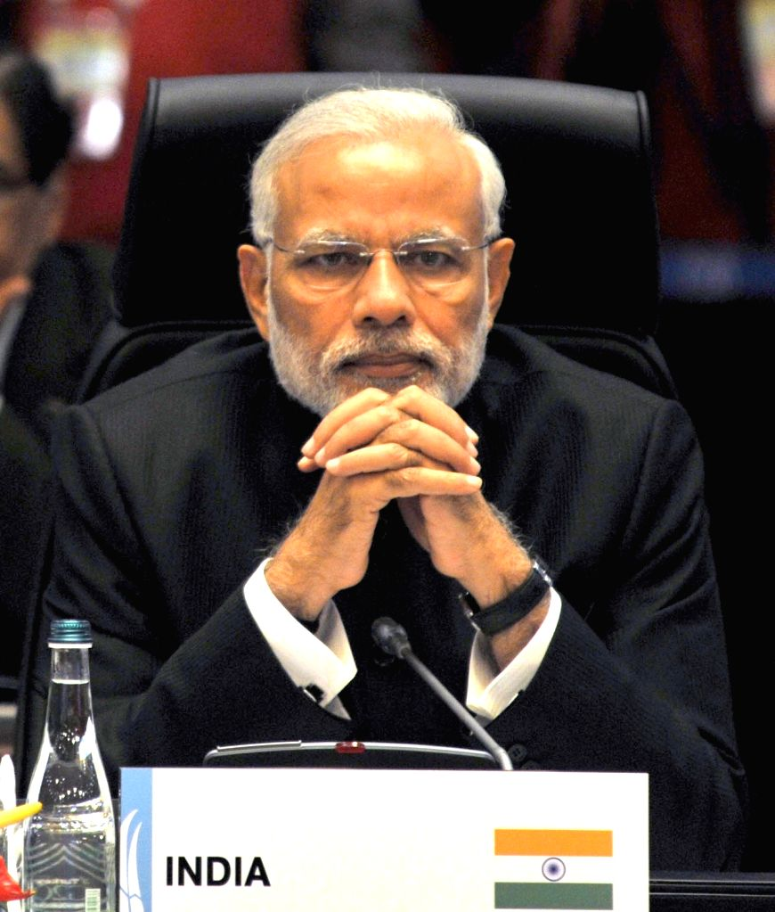 : Antalya: Prime Minister Narendra Modi at the G20 Summit working session on inclusive growth in Antalya, Turkey on Nov 15, 2015. (Photo: IANS/PIB). - Narendra Modi