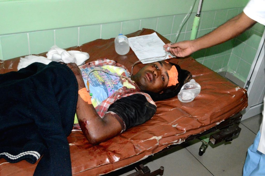 ANTANANARIVO, June 27, 2016 - An injured person receives treatment at the hospital of Joseph Ravoahangy Andrianavalona in Antananarivo, capital of Madagascar, on June 26, 2016. At least two people ... - Mahafaly Solonandrasan