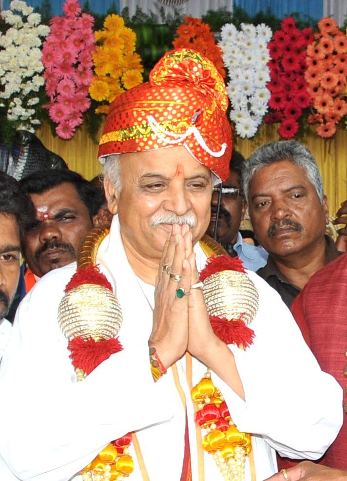 Antarrashtriya Hindu Parishad President Praveen Togadia during the 2nd anniversary celebrations of 'Maha Ganpati Utsav' organised by Rashtriya Bajrang Dal, in Bengaluru on Sep 13, 2019.