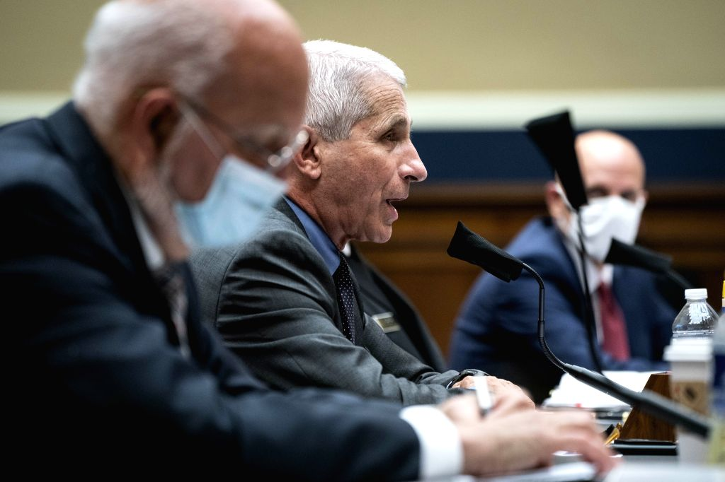 Anthony Fauci (2nd L), director of the U.S. National Institute of Allergy and Infectious Diseases, testifies before the House Energy and Commerce Committee on ...