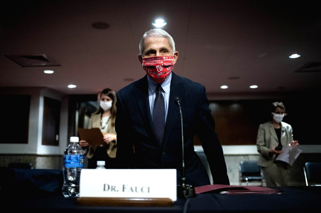 Anthony Fauci, director of the National Institute of Allergy and Infectious Diseases, arrives to testify before the U.S. Senate Committee on Health, Education, ...