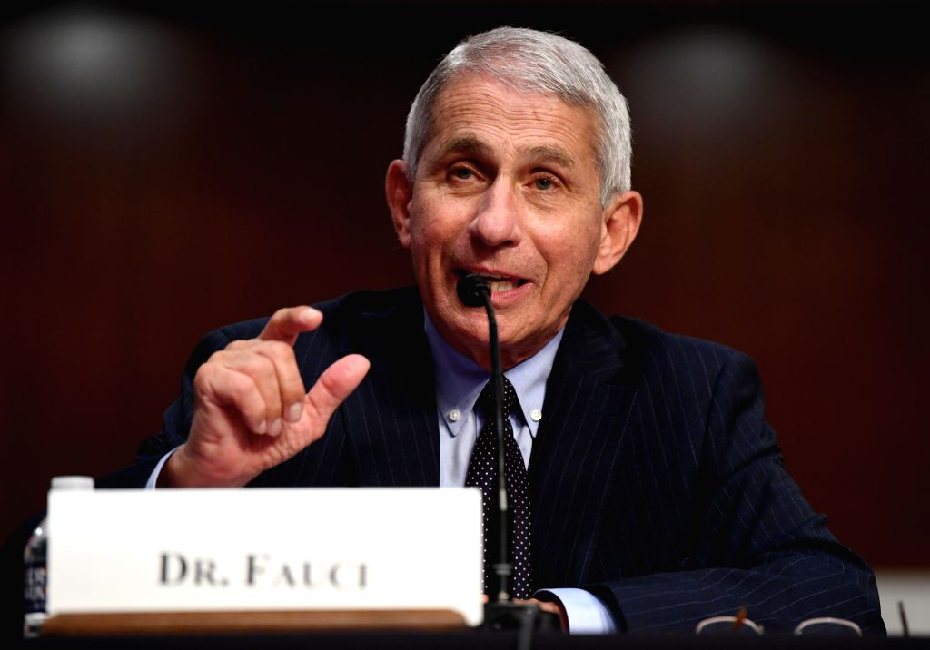 Anthony Fauci, director of the National Institute of Allergy and Infectious Diseases, testifies before the U.S. Senate Committee on Health, Education, Labor and ...