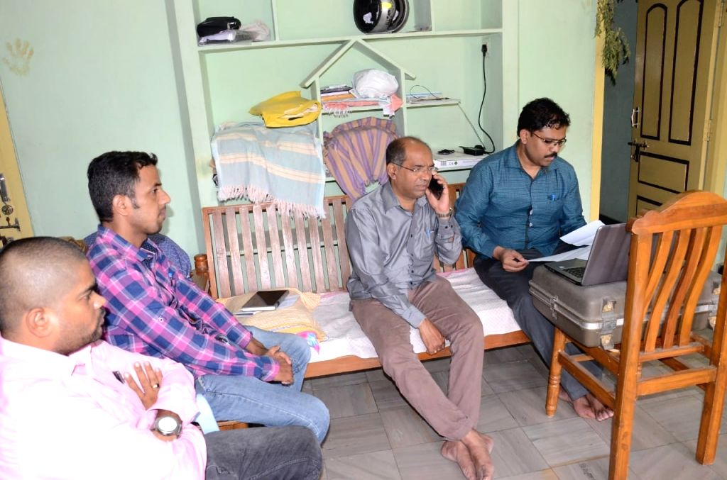 Anti-Corruption Bureau (ACB) officials during raids conducted at the residence of Sports Deputy Director Venkataramana in Ramanthapur, Telangana on June 6, 2018.