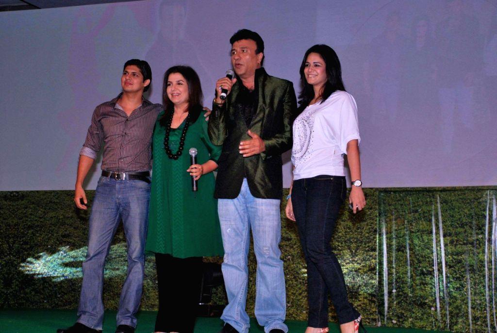 Anu Malik, Faran Khan, Vishal Malhotra and Mona Singh at the press meet of Dus Ka Dum 2.