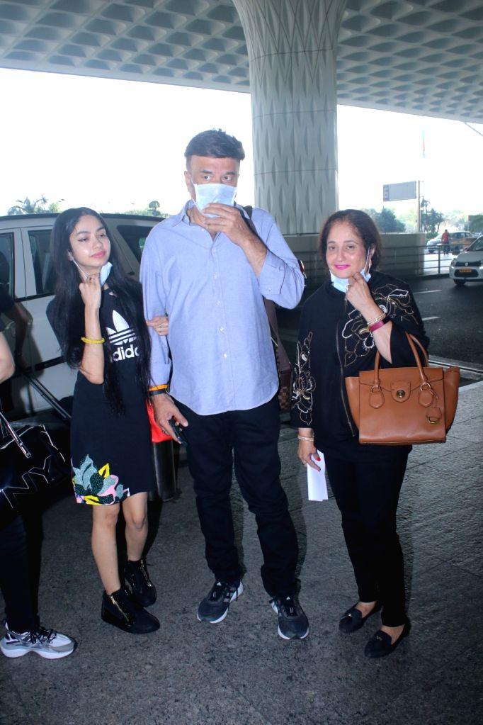Anu Malik & His Family Spotted at Airport Departure on Friday 05th March, 2021. - Malik
