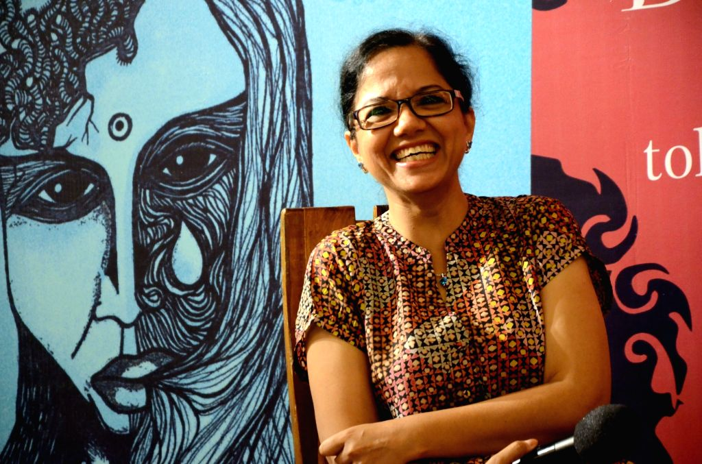 """Anuja Chandra at the launch of her book """"Bijnis Woman: Stories of Uttar Pradesh""""  in Mumbai on May 7, 2017."""