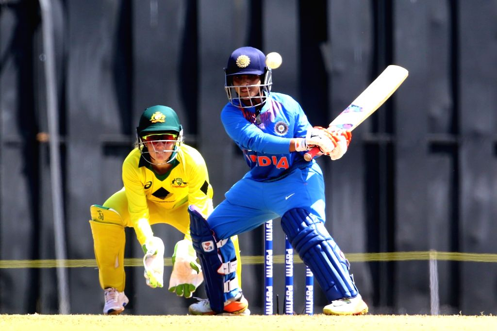 Anuja Patil of India in action during the women's tri-series T20I match between India and Australia at the Brabourne Stadium in Mumbai on March 22, 2018. - Anuja Patil