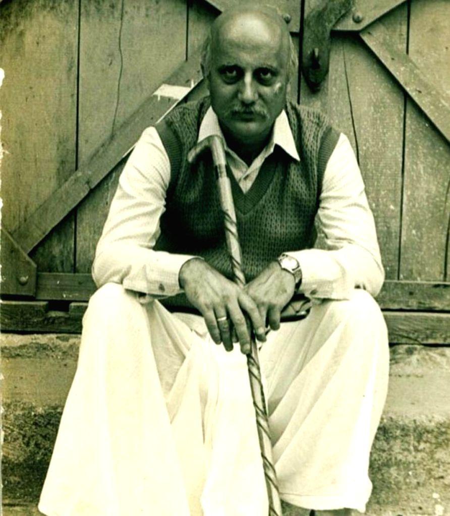 Anupam Kher recalls playing 65-yr-old man in debut film 'Saaransh'. - Anupam Kher