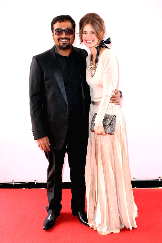 Anurag Kashyap with wife Kalki Koechlin at the screening of Gangs of Wasseypur in Cannes. - Anurag Kashyap