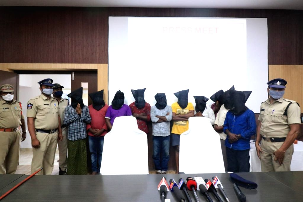 AP police arrest 10 treasure hunters for hammering Nandi idol.