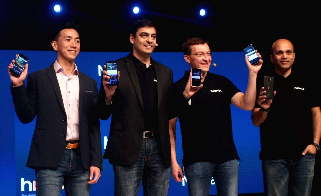 APAC - Google Head of Android Partner Programs Dan Seet, HMD Global Vice President (India) Ajay Mehta and Executive Vice President and Chief Marketing Officer Pekka Rantala at the launch ... - Ajay Mehta
