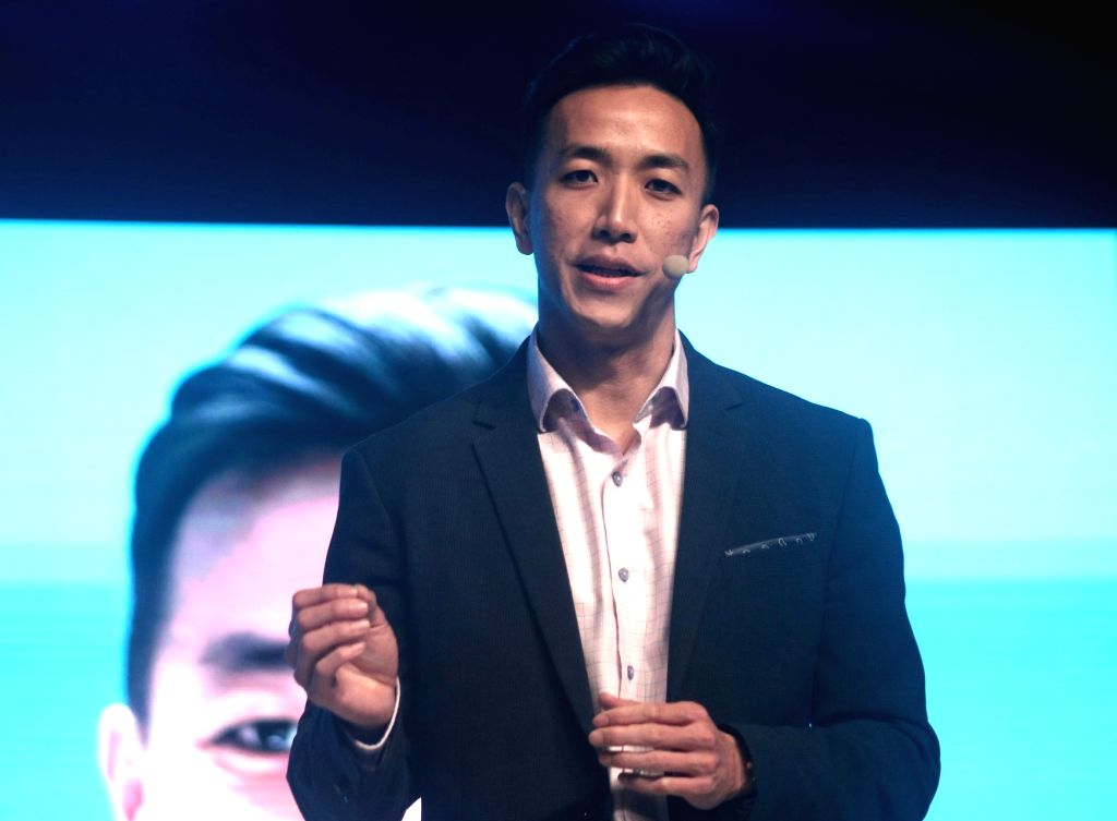 APAC - Google Head of Android Partner Programs, Dan Seet addresses at the launch of Nokia 6, 7 Plus and 8 Sirocco smartphones, in New Delhi on April 4, 2018.