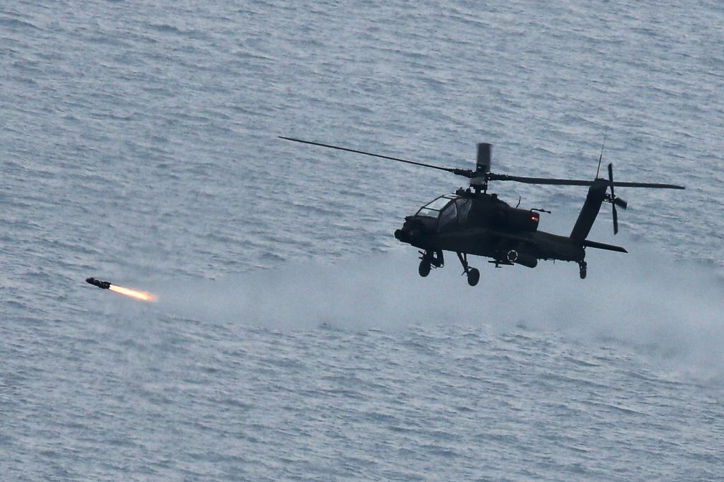 Apache attack helicopter. (Yonhap/IANS)