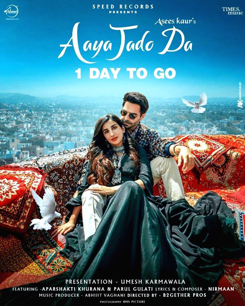 Aparshakti Khurana releases Asees Kaur's new song 'Aaya jado da - Asees Kaur