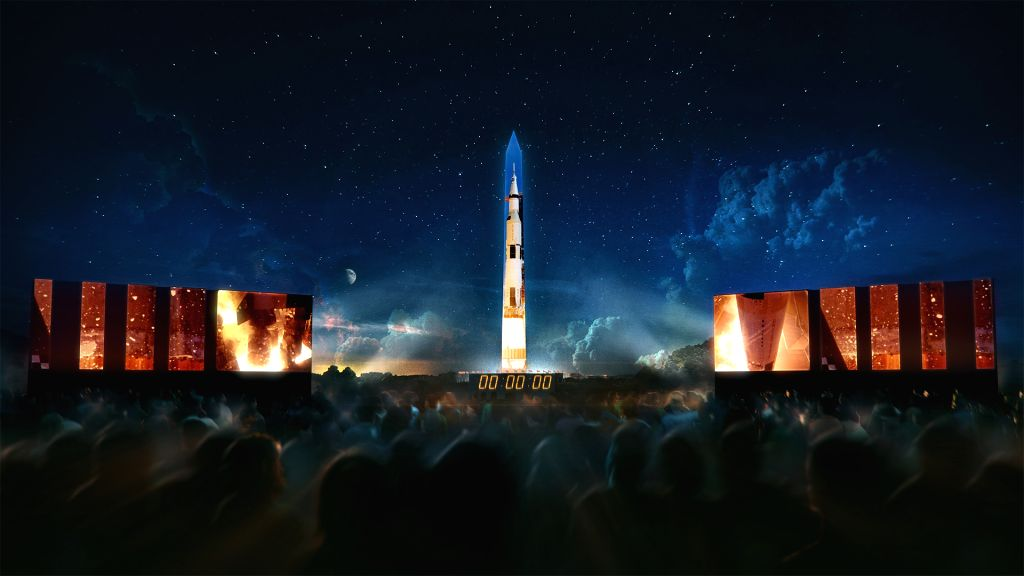 """Apollo 50: Go for the Moon,"" a special 17-minute show, will combine full-motion projection-mapping artwork on the Washington Monument to recreate the launch of Apollo 11 and its moon landing. Shows will take place on July 19-20.  (Photo Source: Smit"