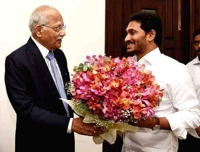 Apollo Group Chairman Prathap C. Reddy meets Andhra Pradesh Chief Minister Y.S. Jagan Mohan Reddy, in Vijayawada on Oct 25, 2019. - Y. and Prathap C. Reddy