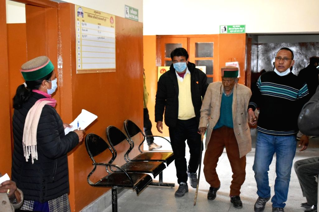 Appealing all those who are eligible to get inoculated, Shyam Saran Negi, who is believed to be India's oldest voter at 103 years of age, took his first dose of the Covid-19 vaccine on Tuesday at a health centre in Himachal Pradesh's Kinnaur district